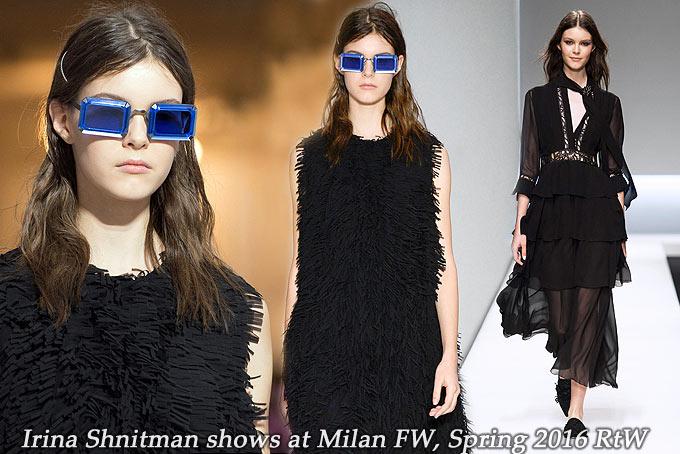 Irina Shnitman at Milan FW Spring 2016
