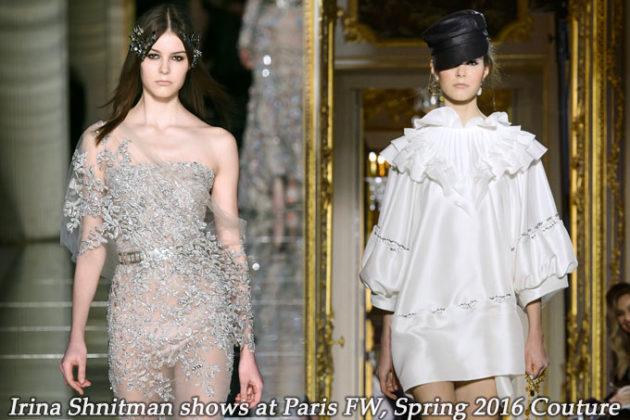 Irina Shnitman at Paris FW Spring 2016 Couture