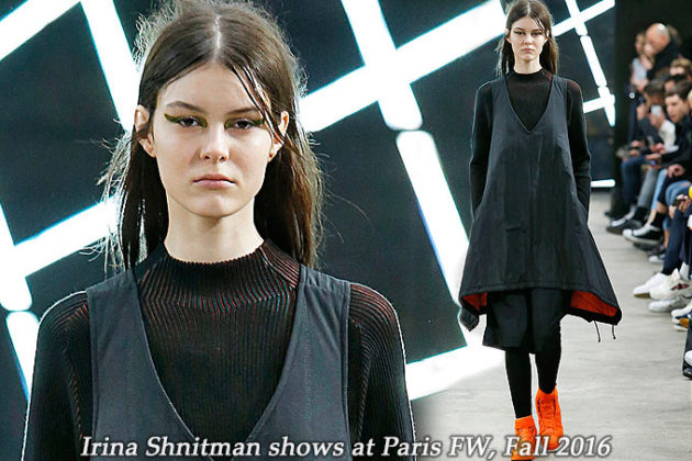 Irina Shnitman at Paris FW Fall 2016