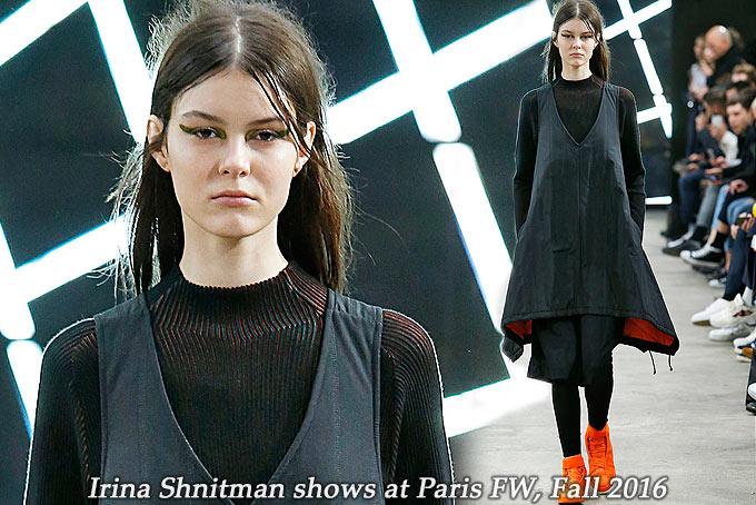 Irina Shnitman at Paris FW Fall 2016