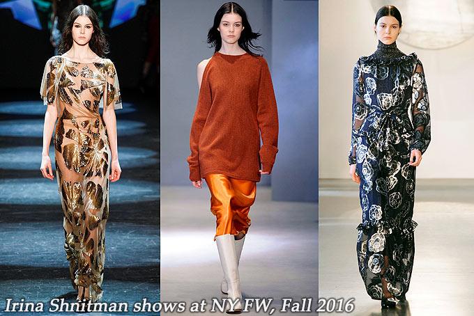 Irina Shnitman at New York FW Fall 2016