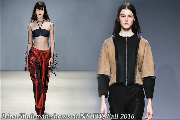 Irina Shnitman at New York FW Fall 2016