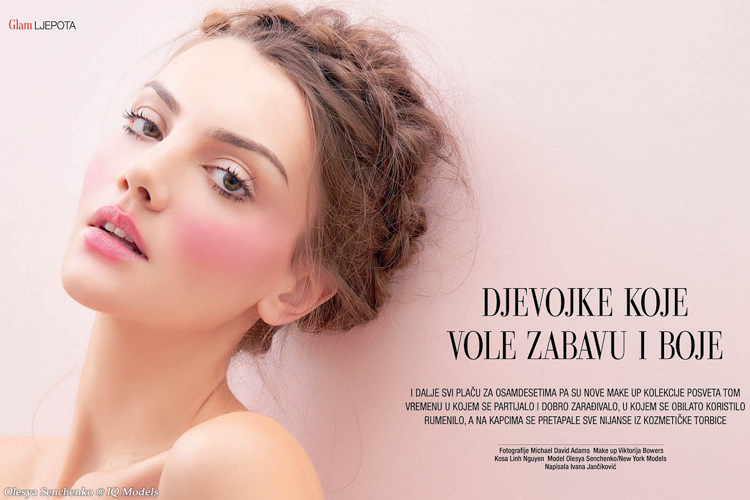Olesya Senchenko for Gloria Glam Beauty