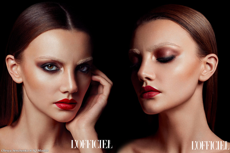 Olesya Senchenko in Beauty Shooting for L'Officiel Australia
