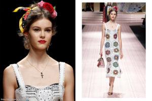 Irina Shnitman for Dolce and Gabbana S/S 2019 at Milan Fashion Week