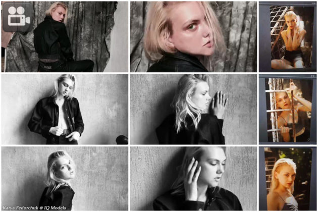 Katya Fedorchuk backstage shooting