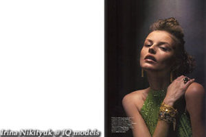 Irina Nikityuk for L'Officiel Dec'04-Jan'05