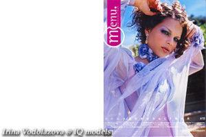 Irina Vodolazova Cover Page of Menu, November 2004