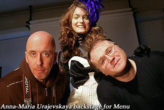 Anna-Maria Urajevskaya backstage for Menu, Nov'06