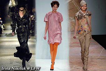 Irina Nikituk @ London's Fashion Week, Feb'06