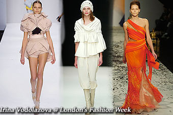 Irina Vodolazova @ London's Fashion Week, Feb'06