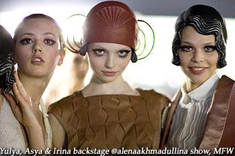 Yulya, Asya, Irina backstage @alenaakhmadullina