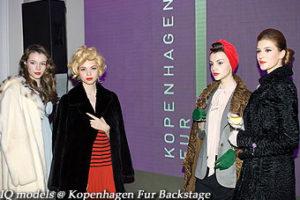 IQ models backstage for Kopenhagen Fur Show