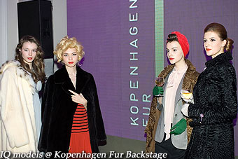 IQ models backstage for Kopenhagen Fur Show
