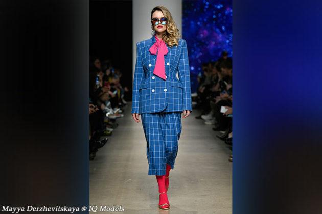 Maya Derzhevitskaya walked for Product of Imitation S/S 2020
