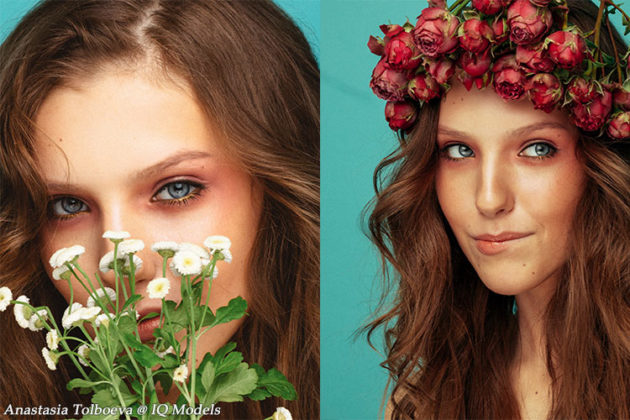 Anastasia Tolboeva beauty shooting by Dasha Tikhonova