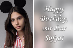 Happy Birthday our dear Sofya!