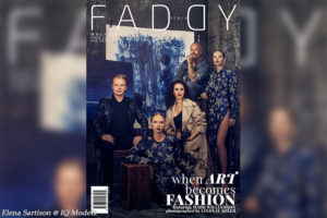 Elena Sartison cover for Faddy Magazine USA, September 2020