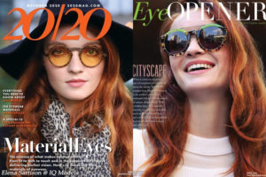 Elena Sartison new cover and opener for 20/20 Magazine, NY