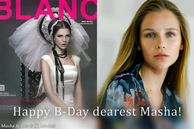 Happy B-Day dearest Masha!