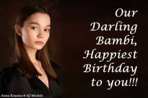Our Darling Bambi, Happiest Birthday to you!!!