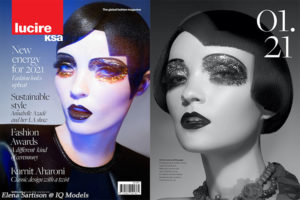 Elena Sartison first cover of 2021, Lucire RSA!!!