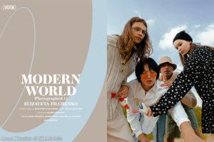 Anna Krasina in 'Modern World' editorial, VGXW magazine